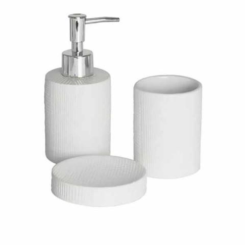 Jogo de Banheiro Cerâmica 3 Peças Lille