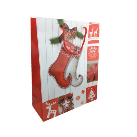 Sacola Natal Color Decorada Estampada 32X26X10 Cm