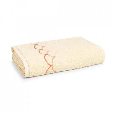 Toalha de Banho Muriel 70x135 Cm Natural/Salmão