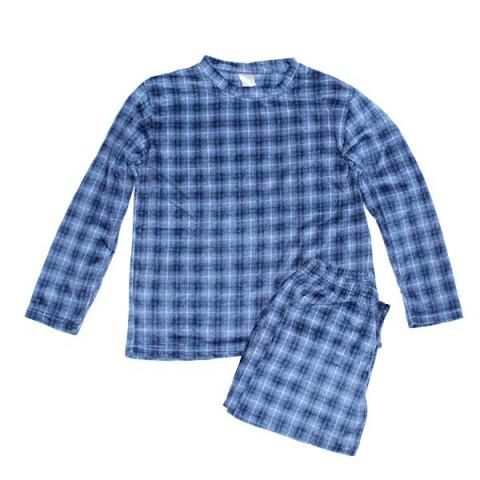 Pijama Plush Daisa M Xadrez Azul Marinho