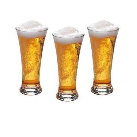 Jogo De Copos Para Cerveja Pub Vidro 3 Peças