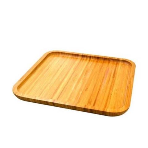 Petisqueira de Bambu Top Chefe Quadrada 25 Cm