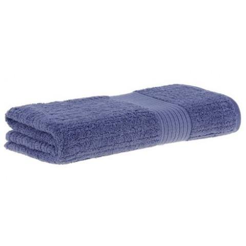Toalha de Banho Gigante Fio Penteado Canelado 90x150 Cm Azul Escuro