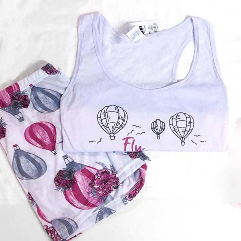 Pijama Feminino Adulto Regata GG