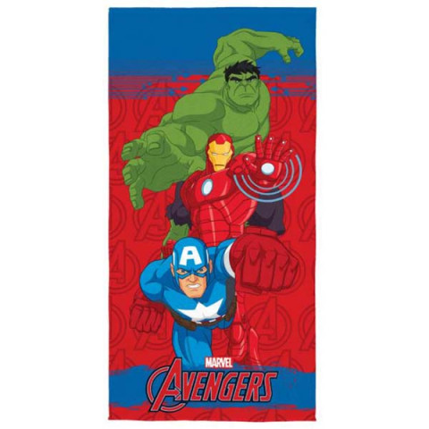 Toalha de Praia Aveludada Avengers 70x140 Cm Vermelho