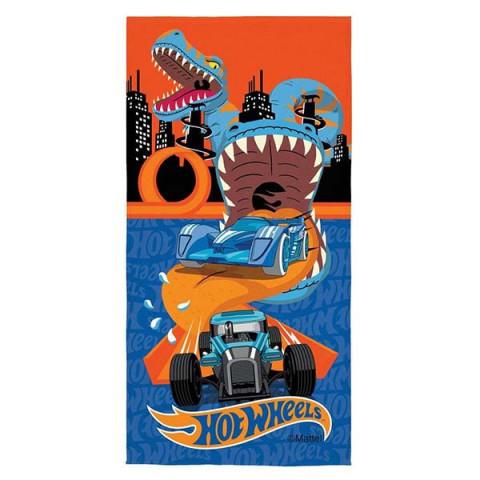 Toalha de Praia Aveludada Hot Wheels 70x140 Cm Azul