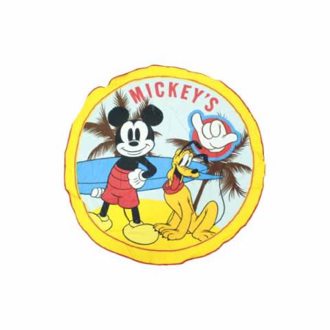Toalha de Praia Veludada Redonda 105 Cm Redonda Mickey