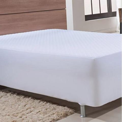 Protetor de Colchão Queen Impermeável Confort Branco