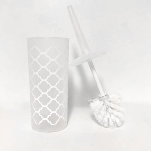 Escova Sanitária Com Suporte Branco