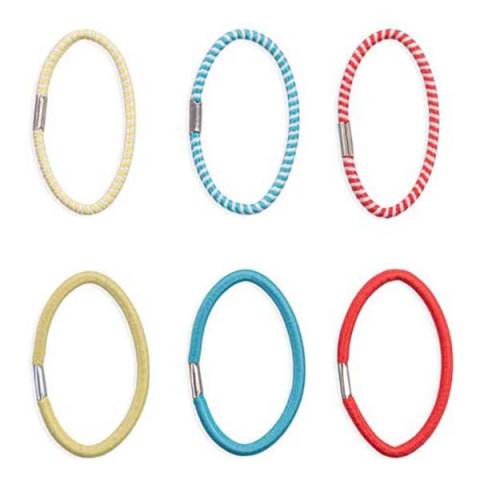 Kit Elástico de Cabelo Color Mix 6 Unidades