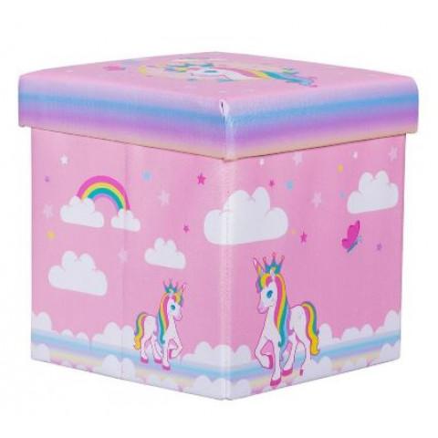 Mini Puff Box Unicórnio Rosa