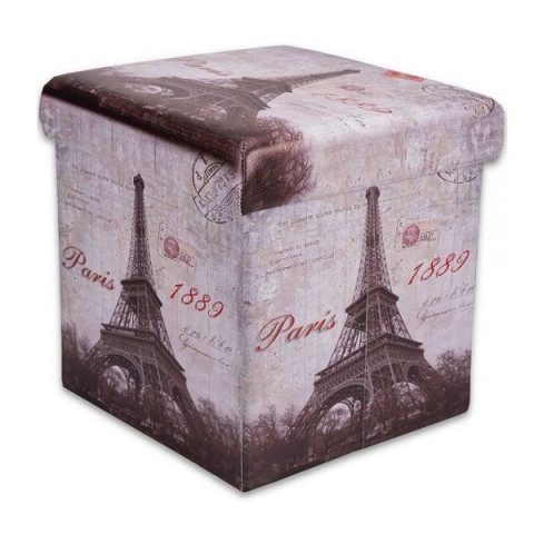 Puff Box Mini 30x30x30 Cm Paris