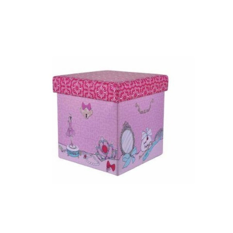 Mini Puff Box Bailarina Rosa