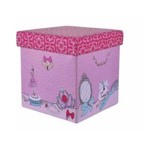 Mini Puff Box Bailarina Rosa