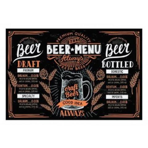 Tábua Retangular Beer 30x20 Cm Menu
