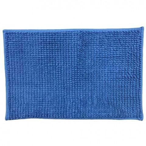 Tapete Chenille Shaggy 38x58 Cm Azul