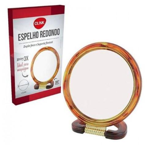Espelho Redondo Com Suporte 15 Cm