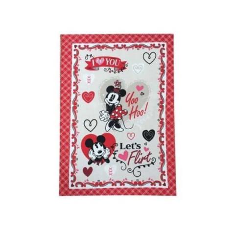 Pano de Copa Felpudo Mickey e Minnie Let's Flirt 45x65 Cm