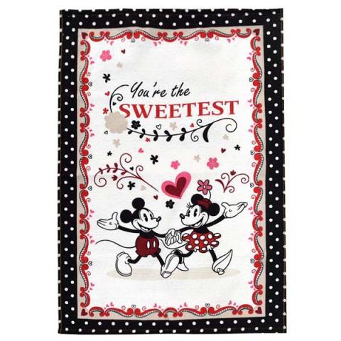 Pano de Copa Felpudo Mickey e Minnie You're the Sweetest 45x65 Cm