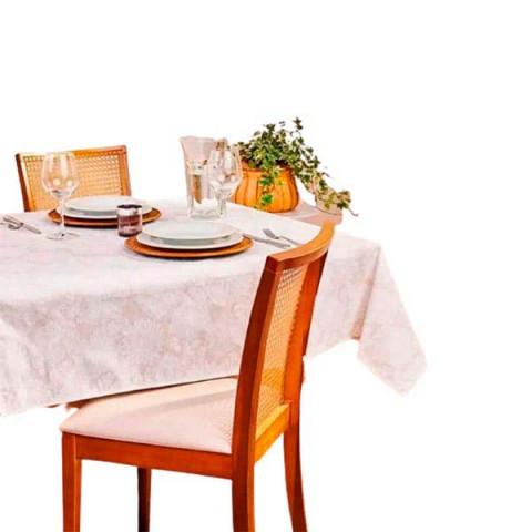 Toalha de Mesa Lili Retangular 140x140 Cm Branco