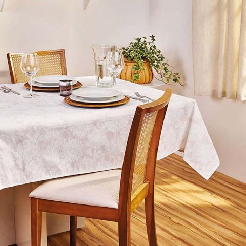 Toalha de Mesa Lili Retangular 140x220 Cm Branco