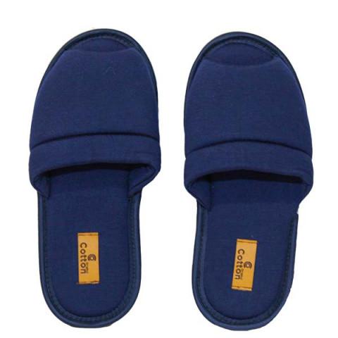 Pantufa Aberta Lisa 37/38 Azul Marinho