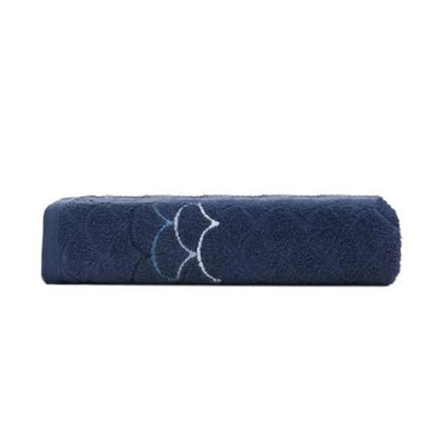 Toalha de Banho Muriel 70x135 Cm Marinho/Azul
