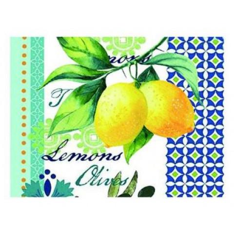 Tábua Retangular Limão de Vidro
