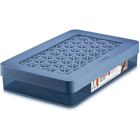 Caixa Organizadora com Divisória Azul