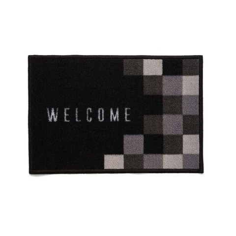 Tapete BBB Welcome 40x60 Cm Preto