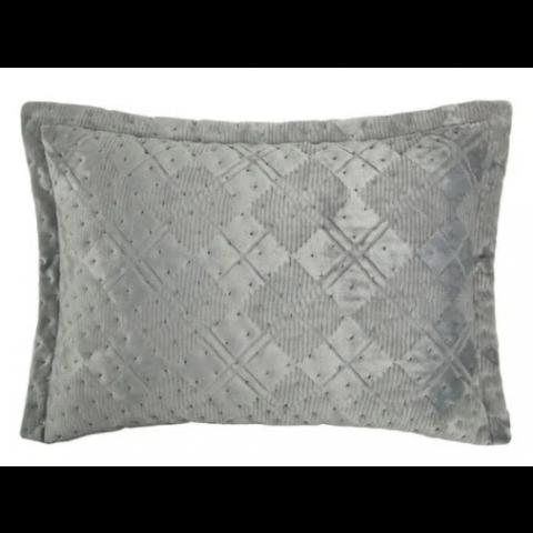 Porta Travesseiro Vogue 50x70 Cm Beton Cinza