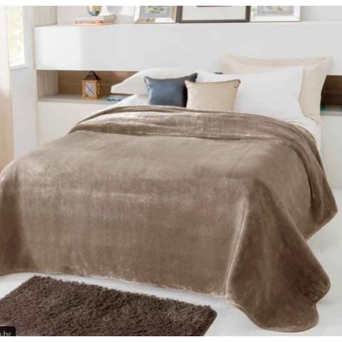 Cobertor Casal Kyor Plus Unicolor Bege