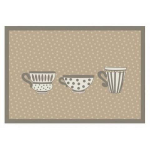 Tapete Para Cozinha 45x65 Cm Poa Cups