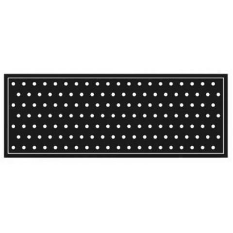 Passadeira Para Cozinha 45x120 Cm Black White