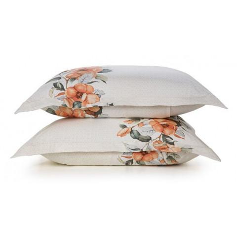 Kit Fronha Com Abas 180 Fios 50x70 Cm Floral