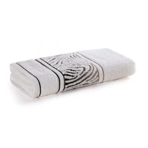 Toalha de Banho Karsten Fio Cardado Animale Branco/Cinza