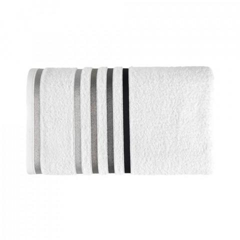 Toalha de Rosto Karsten Fio Penteado Lumina Branco/Preto
