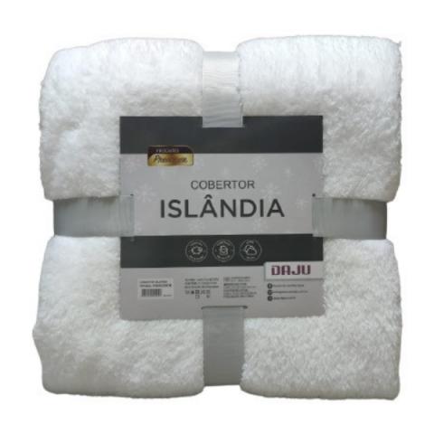 Cobertor Casal Sherpa Islândia Daju Branco