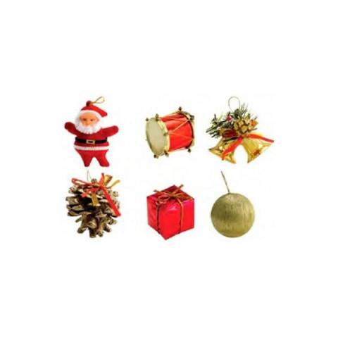 Enfeite Natal Com 6 Peças