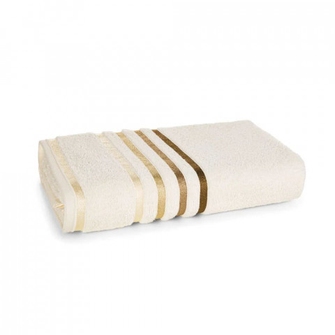 Toalha de Rosto Karsten Fio Penteado Lumina Ivory/Marrom
