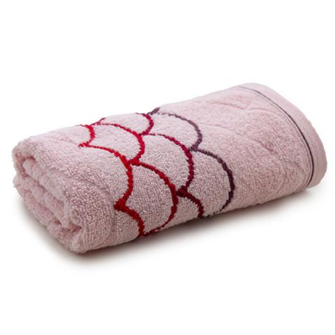 Toalha de Banho Muriel 70x135 Cm Rose/Vermelho