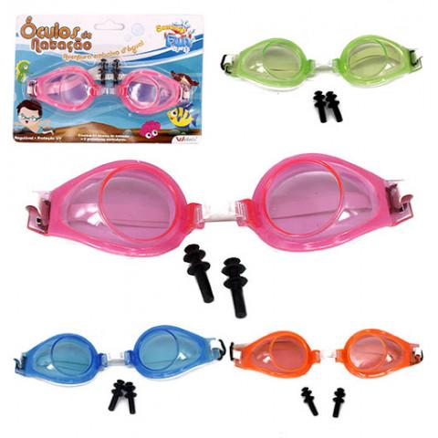 Óculos Natação Infantil Com Protetor De Ouvido