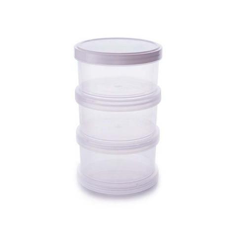 Organizador Plastico Com Tampa de Rosca 3 Peças 220 Ml