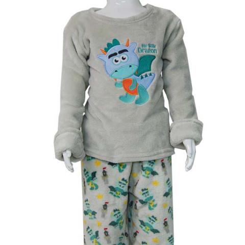 Pijama Flanel Bordado Kids Daju Dragão 5 a 6 Anos
