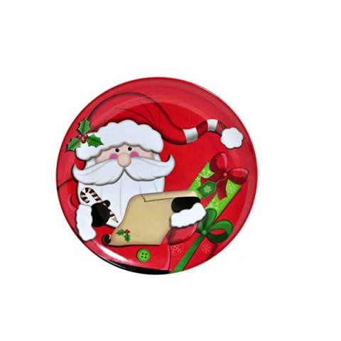 Prato Melamina Natal Papai Noel Vermelho/Branco