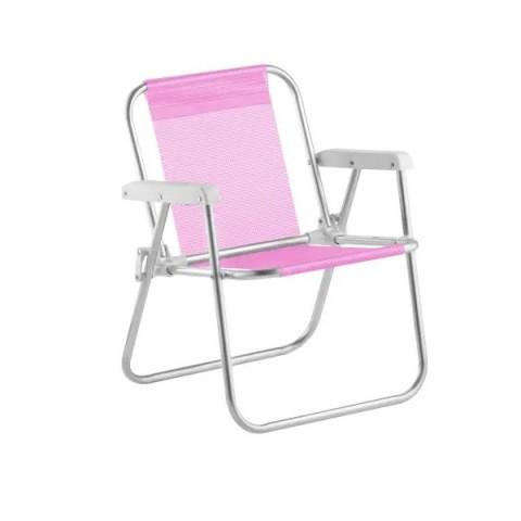 Cadeira Praia Varanda Infantil Rosa