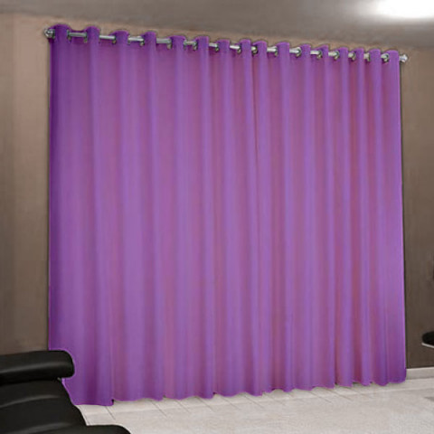 Cortina Rústica Paris 300x240 Cm Lilás