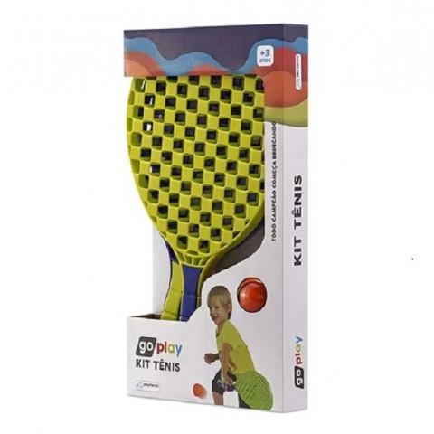 Brinquedo Kit Tenis Go Play 2 Raquetes E Bolinha