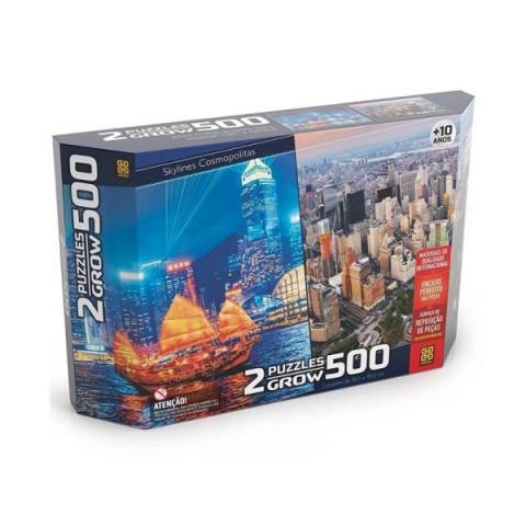 Brinquedo Jogo Puzzle Duplo Skylines Cosmopolitas
