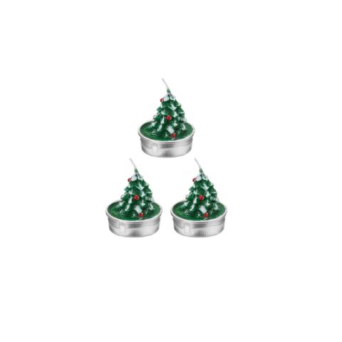Vela 3D Natal Árvore 5X4 Cm